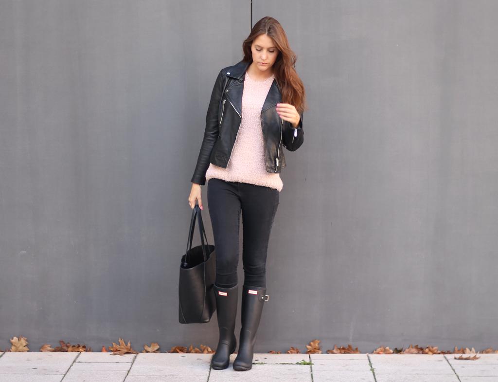 Die perfekte Lederjacke - Outfit