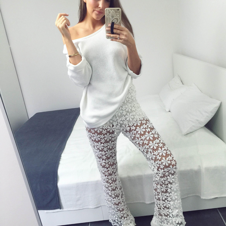 NA-KD Bootcut Crochet Trousers