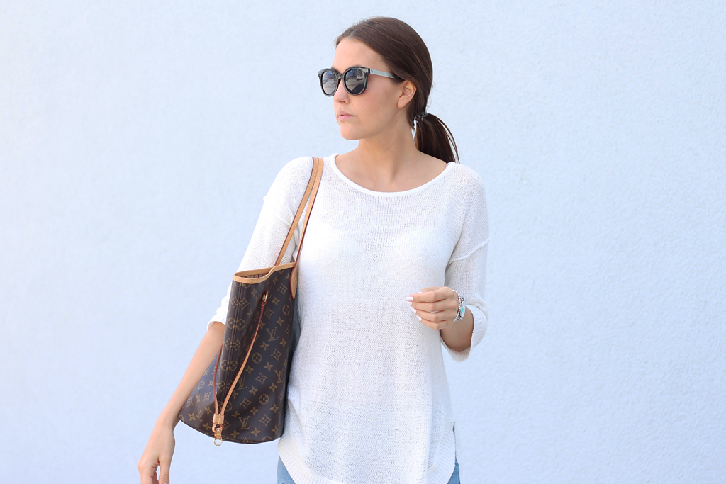 Casual Outfit weißer Pullover