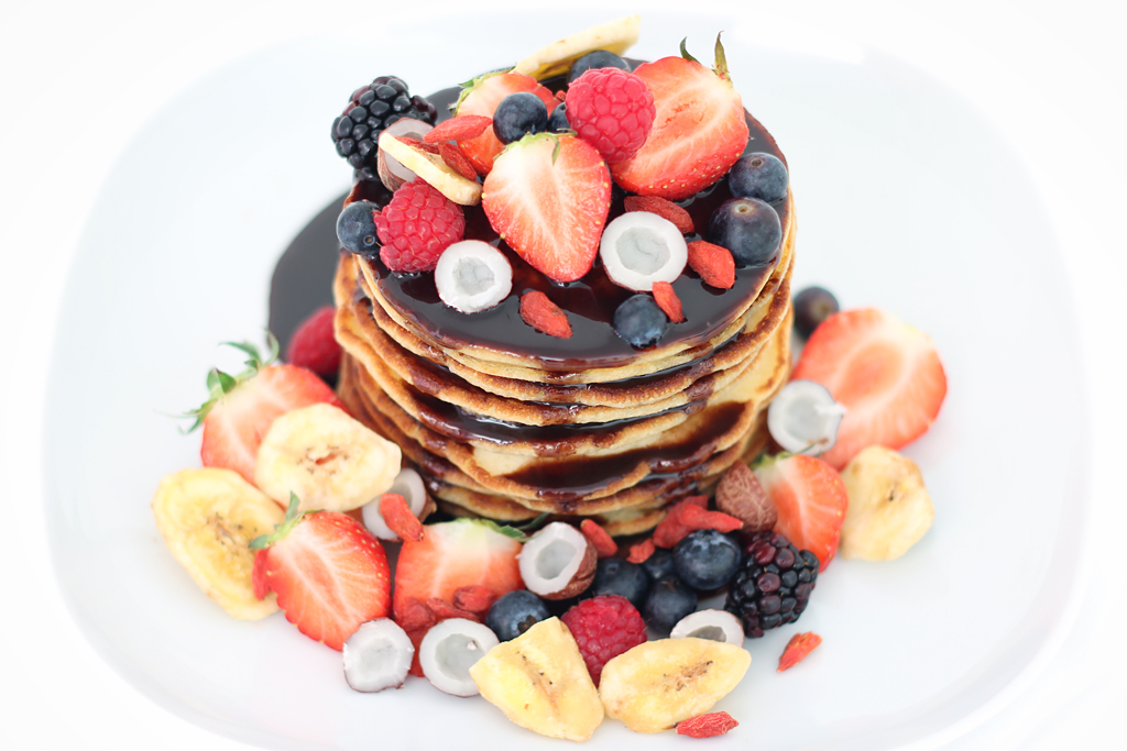 Superfood Toppings Pancake Tower