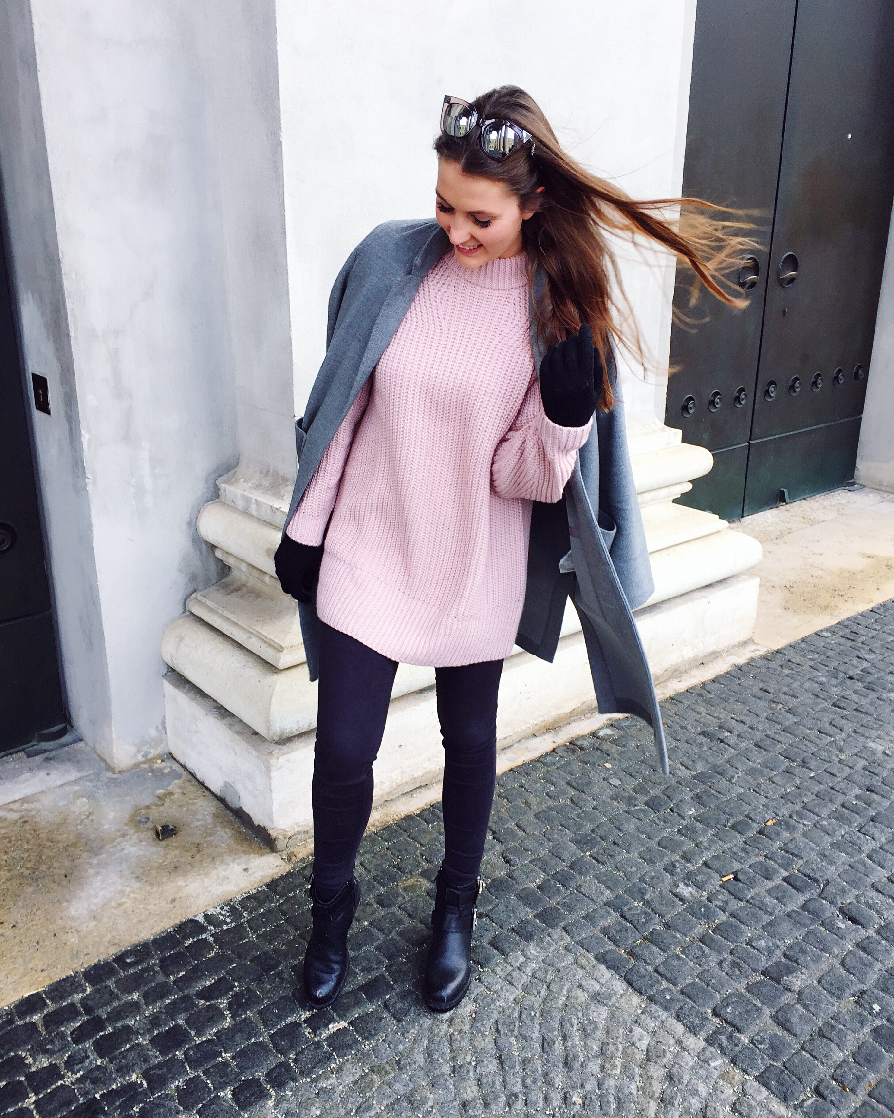 Feeling Pink & Grey - Strickpullover