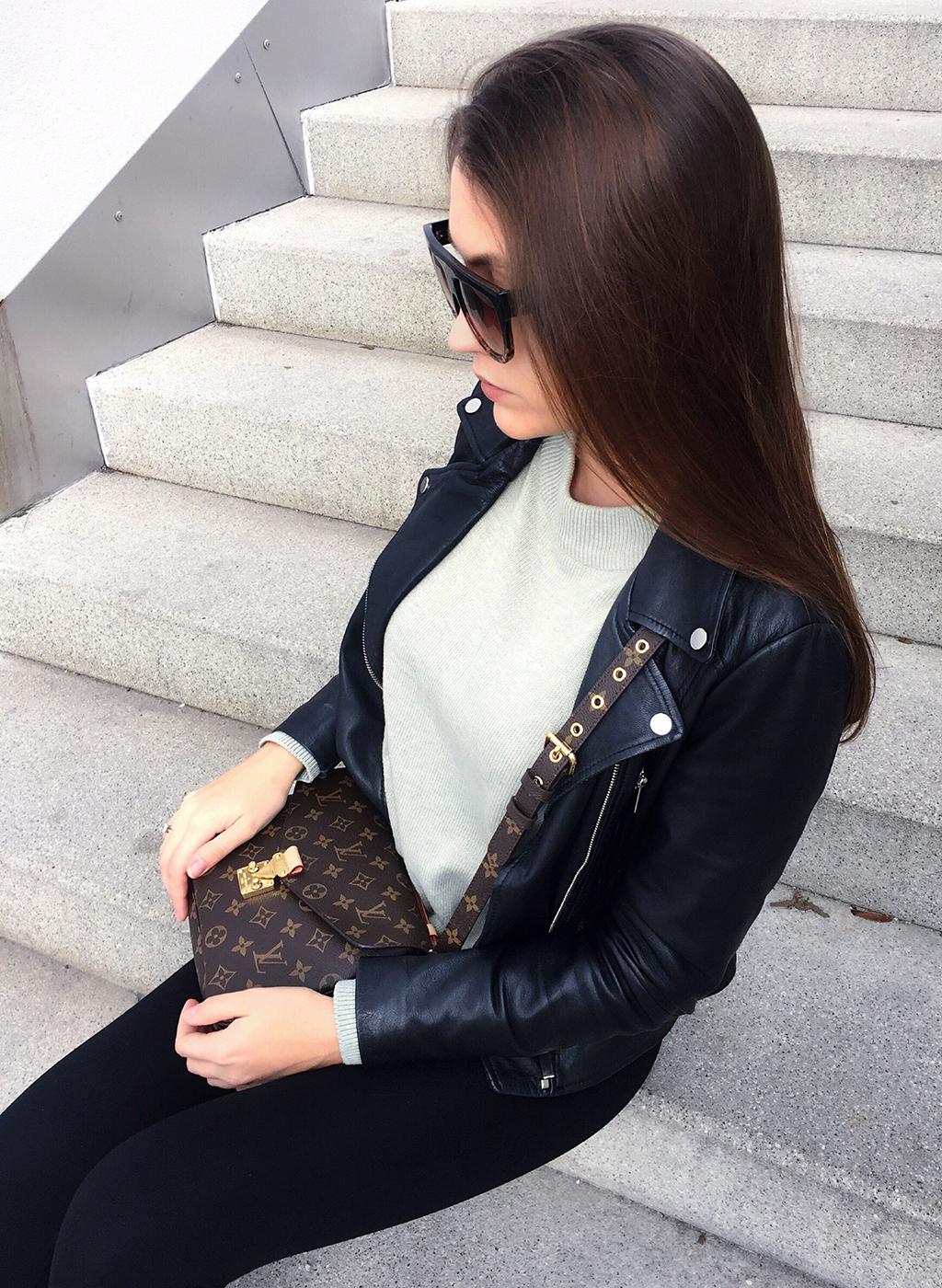 Black Leather Jacket Look