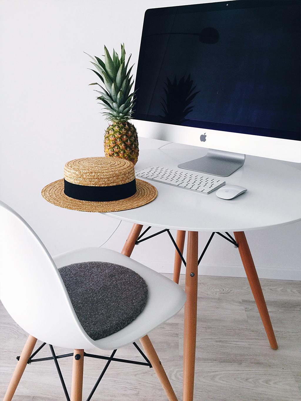i Mac Ananas Strohhut Interior