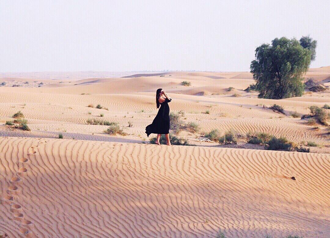 Dubai Desert Wüste Outfit