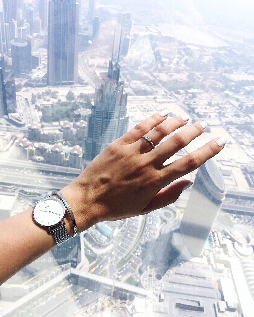 Engaged at the Top of Burj Khalifa Verlobungsring