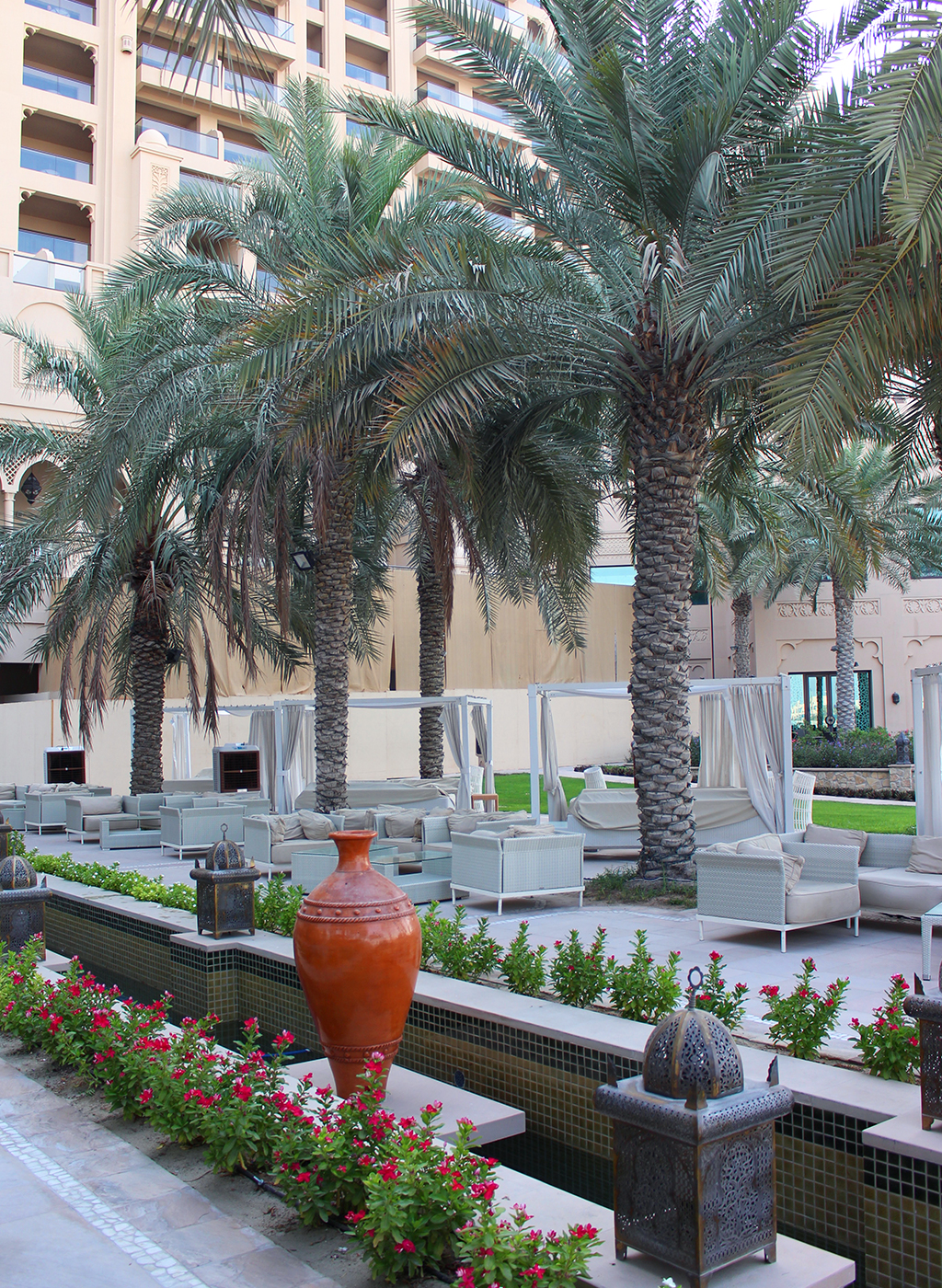 Fairmont The Palm Hotel Dubai Review Palmen Hotelanlage