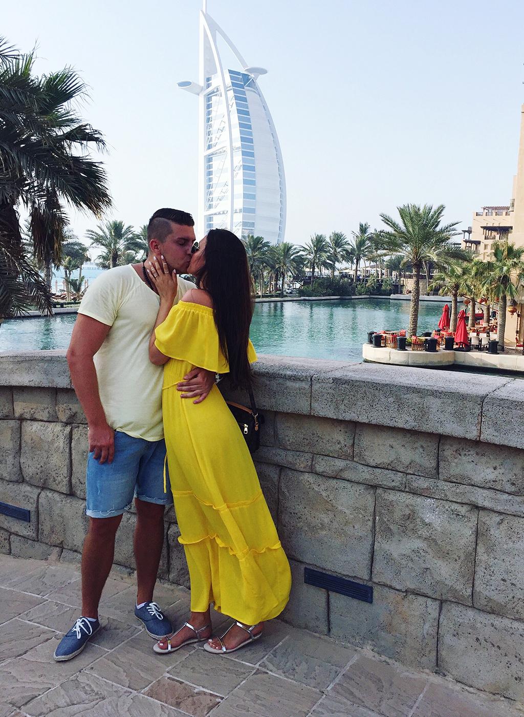 Verlobter und Verlobte Dubai Burj al Arab Madinat Jumeirah
