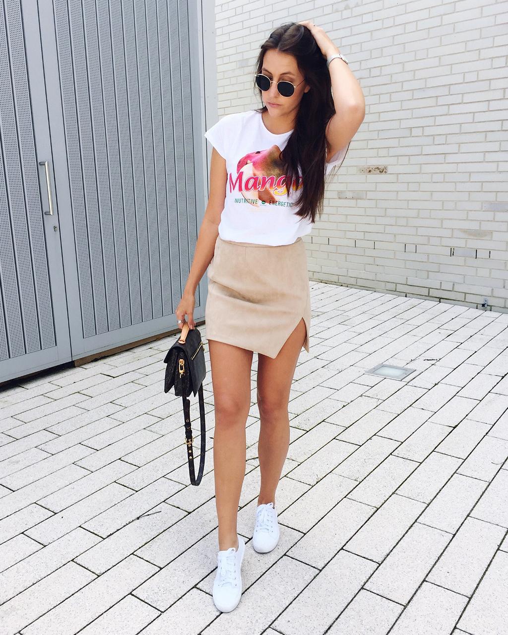 Wildlederrock Outfit Inspiration